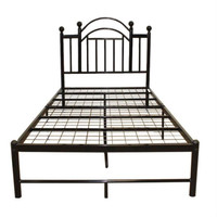 Queen Size Black Metal Platform Bed Frame with Headboard