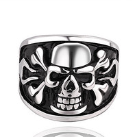 Fashion Skull Pattern Men's Statement Ring(1 Pc)