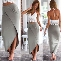 New Women's Summer Mid Lenght Beach Dress - Two Piece
