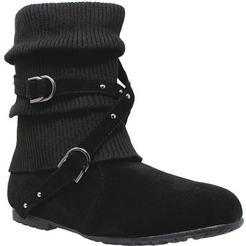 Strappy Knit Ankle Boot