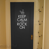 Keep Calm And Rock On Vinyl Wall Art FREE Shipping by showcase66