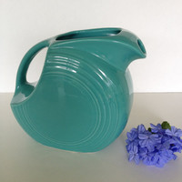 Old School Turquoise FiestaWare Pitcher
