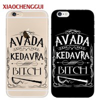 Harry Potter Avada Kedavra Bitch phone Case For Coque iPhone 6 6S Plus 7 8 7Plus 5S SE Hard Back Cover For Fundas iPhone x Case