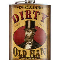 Trixie and Milo Dirty Old Man Stainless Steel Flask