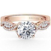 Kirk Kara Pirouetta Split Shank Twist Diamond Engagement Ring