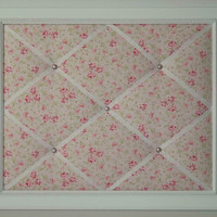 Shabby Chic Pink Ballet Rose Framed Memo Board