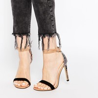 River Island Barely There Sandals with Snake Print