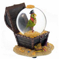 disney parks snowglobe pirates of the caribbean pirates chest new with tags