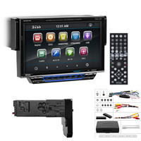 """Boss Audio 7"""" Motorized Touchscreen Monitor with Detachable Front Panel Bluetooth DVD Player MP4-MP3 Compatible Receiver"""