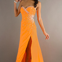 Strapless Orange Prom Gown by Mori Lee 93205