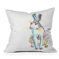 Casey Rogers Hare Multi Throw Pillow