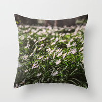 Wood Anemone Field Throw Pillow by Pati Designs
