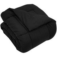 DOWN ALTERNATIVE COMFORTER/ DUVET COVER INSERT - BLACK