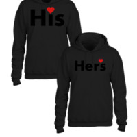 his and hers couple matching couple hoodie