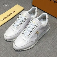 LV 2019 early spring new men's low-top belt wild sports shoes white