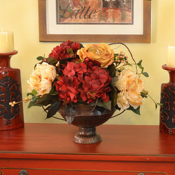 Floral Home Decor Peonies Hydrangea And From Wayfair