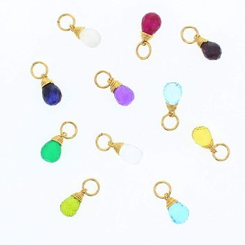 Gold Natural Birthstone Charms