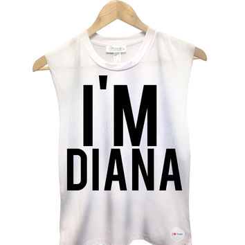 I'm Diana Muscle tank - Small