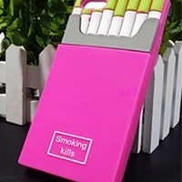 Fuchsia Pink Lime Green White Grey CC Inspired Smoking Kills Cigarette Box Silicone Phone Case Cover
