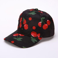 New Fashion Fruit Print Baseball Cap For Women   Sun Hat HipHop Curved Strapback Snapback Hats Cap Female #63 SM6