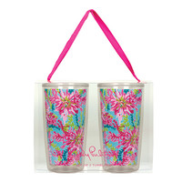Lilly Pulitzer Insulated Tumbler Set- Trippin' and Sippin'