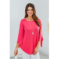 Talk About Sweet Top- Fuchsia