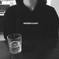 abcdefuckoff hoodie women hoody tumblr sweatshirt funny letter print hoodies jumper graphic sweats fashion clothes outfit