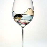 Beautiful Hand Painted Large Wine Glasses - Set of 2 - Unique Gifts for Women, Men, Wedding, Anniversary, Couples, Engagement - Personalized Gifts Ideas for Her, Him, Birthday, Mom, Dad, Hostess, Housewarming, Best Friends, Graduation , Christmas