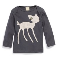 Infant Girl's oh baby! 'Pink Bambi' Long Sleeve Cotton Top