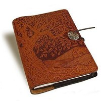 Tree of Life Embossed Leather Writing Journal, 6 x 9-inch