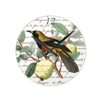 Vintage Bird Fruit Clock