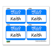 Keith Hello My Name Is - Sheet of 4 Stickers