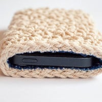 Crochet Iphone 5 case, Iphone 5s case, Crocheted Iphone 5 case with lining, Iphone 5s sleeve,phone wallet,iphone 5 cover,Christmas gift idea