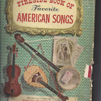 1952 Fireside Book of Favorite American Songs with 354 Pages of Old Songs and Illustrations