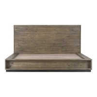 Elena King Bed Solid Rustic Wood