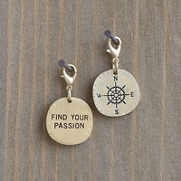 Compass  Find  Your  Passion  Junk  Market  Charm  From  Natural  Life