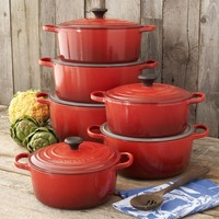 Le Creuset® Signature Cherry Oval French Ovens | Sur La Table