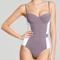 Tory Burch Lipsi Color Block One Piece Swimsuit | Bloomingdales's