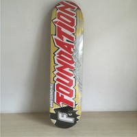 "FOUNDATION 7.5"" Canadian Maple Yellow & Red Skateboard Deck"