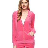 Logo Velour Juicy Frame Relaxed Jacket by Juicy Couture,