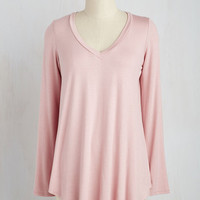 Casual You Need Top in Dusty Rose | Mod Retro Vintage Short Sleeve Shirts | ModCloth.com