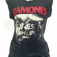 Ramones, tshirt , short sleeve tshirt ,women  t shirt , tank top ,vest women shirt , rock tee , black shirt tunic, S, L, XL size