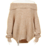 Lapel Sweety Bell Sleeve Loose Casual Sweater