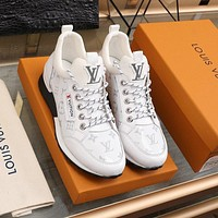 lv louis vuitton men fashion boots fashionable casual leather breathable sneakers running shoes 753