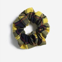 **Check Yellow Scrunchie | Topshop