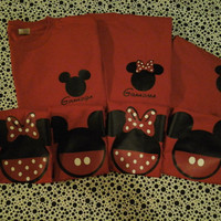 Family 7 Pack Disney Inspired Mickey Minnie T Shirts Perfect for Disney Vacay or Themed Birthday Party