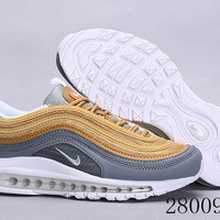 HCXX 19July 1008 Nike Air Max 97 OG QS AQ4137-008 Flyknit Breathable Running Shoes