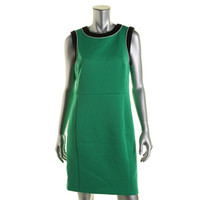 Vince Camuto Womens Eclipse Colorblock Sleeveless Wear to Work Dress