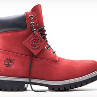 Timberland | Red Nubuck 6-Inch Boot | Limited Release