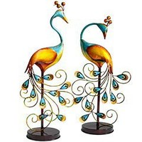 Product Details - Metal Peacocks With Stands